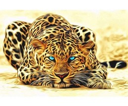 """Leopad Animal16X20"""" Paint By Number Kit DIY Acrylic Painting on Canvas Frameless - $8.99"""
