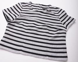 NEW EXPRESS Womens SHIRT TOP Size Medium Black White Zipped Back image 2