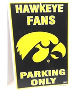 """Iowa Hawkeye Fans Parking Only Aluminum Wall / Man-cave Sign 12""""X18"""" - $19.15"""