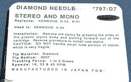 TURNTABLE NEEDLE for Kenwood KD-33f KD-40R KD-40RB KD-44R KD-50F KD-55F image 3