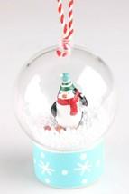 Wondershop Merry Lane Teal Penguin Snow Globe Christmas Tree Ornament NEW
