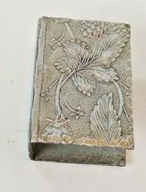Acorns & Leaves Pattern Match Box Holder Hand Forged Everlast Metal Alum... - $9.85