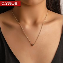 Korean 2019 Tiny Love Heart Pendant for Women Gold Silver Metal Clavicle... - $7.47