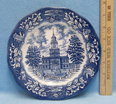 Vintage Avon 1976 Independence Hall Bicentennial Plate Representative Only - $9.85