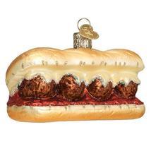 Meatball Sandwich Holiday Ornament Glass - $41.76
