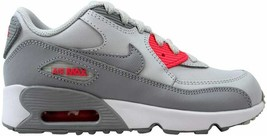 the latest 50b1d 001de Nike Air Max 90 Leather Pure Platinum Wolf Grey 833377-007 Pre-School