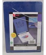 "Acco Printout Binder 9-1/2x11 Dark Blue 26023 w/Hangers 6"" Capacity - $10.99"