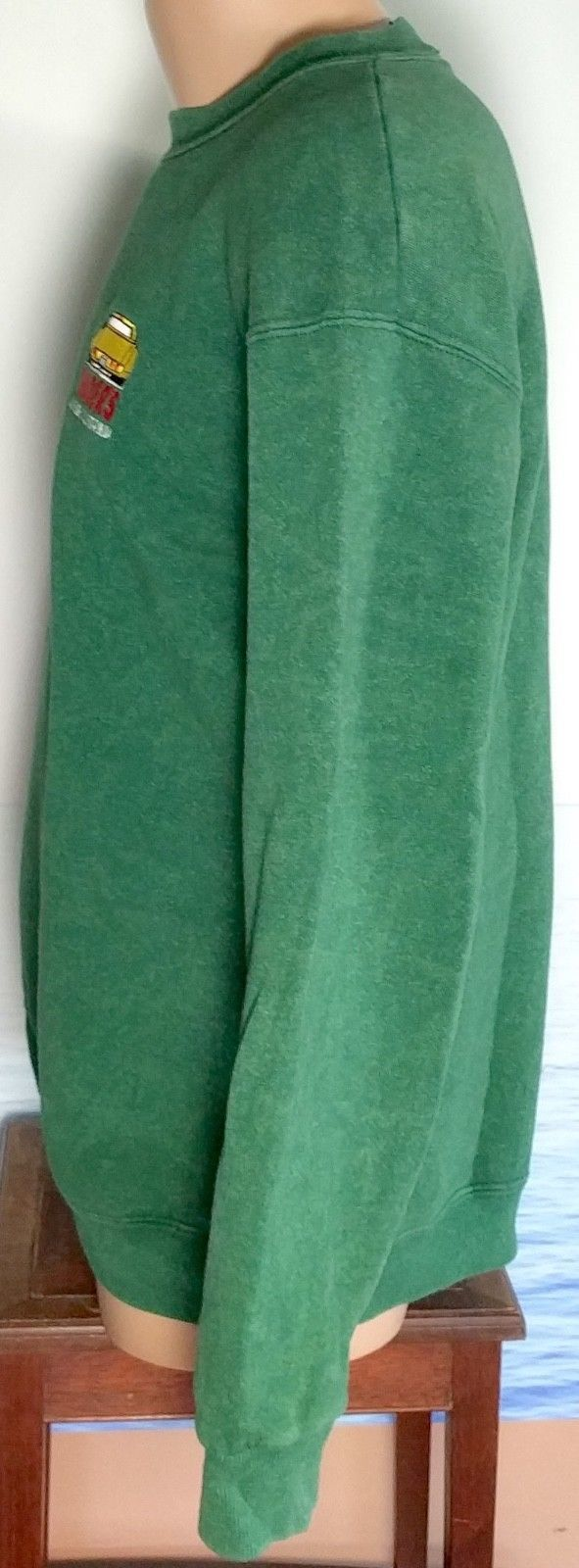 Vintage LEE Made in USA TRADERS L Southern California Cars Sweatshirt Mens Green image 3