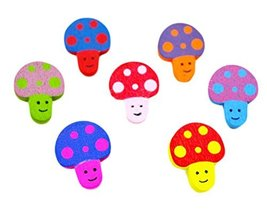 Cute Colorful Mushroom Shaped Thumbtack Creative Pushpins - $24.60
