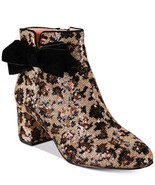 kate spade new york Leopard Print Langley Bow Booties $350 Mult Sz - £124.20 GBP