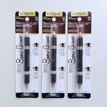 Set of 3 Loreal Brow Stylist Brow Raiser Highlighter Duo 615 Light Pale Sealed - $11.36