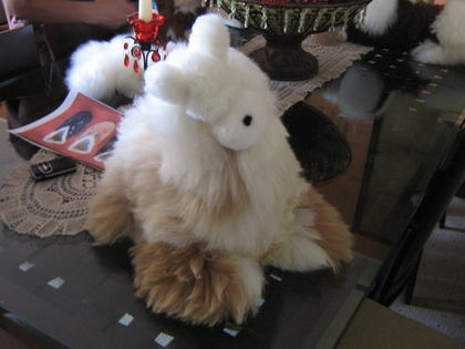 Fur figure Lama,handmade with Alpaca pelt, soft toy