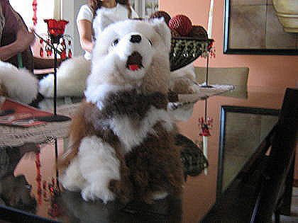 Soft toy,Wulf figure,handmade with original Alpaca pelt