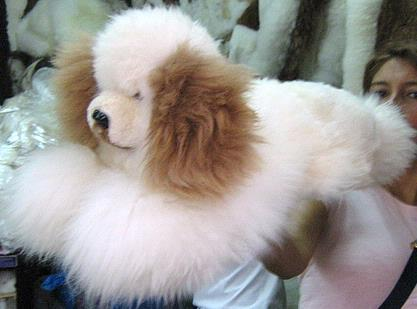 Soft toy dog handmade of Babyalpaca fur, figure