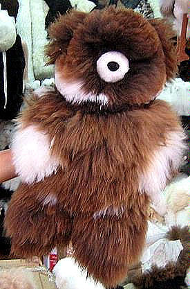 Fur teddy bear made of pure Babyalpaca fur