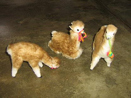 3 Alpacas, alpaca fur soft toys, handcrafted