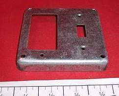 "Raco 4"" Steel Box Cover 1 Toggle/1 Decora"