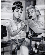 Audrey and Marilyn Tattoo Poster - $5.90
