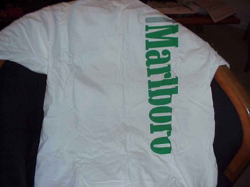 Tob  t  marlboro t shirt 1989