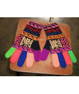 Hand gloves,colored mittens made with Alpaca wool - $19.00