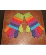 colorful alpaca wool gloves,very soft mittens  - $16.00