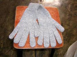 Grey Alpaca wool gloves,very soft mittens  - $16.00