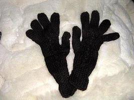 Black alpaca wool gloves,very soft mittens  - $16.00