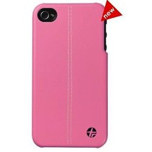 New! Trexta Classic Leather Snap On Case Cover Shell for iPhone 4/4S - Pink - $8.99
