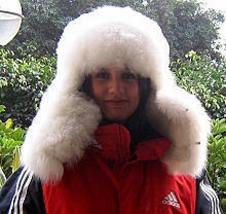 Winter hat with ear flaps,Alpaca pelt, cap  - $128.00
