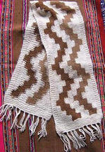 Folklorical peruvian scarf, shawl made of Alpacawool - $26.00