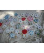 40 Assorted Random Mix Polyester Flower Bobby P... - $14.00