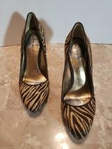 Nine-West Tiger Striped Mohair Pumps Women' Size 5.5 M - $20.57