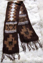 Ethnic peruvian scarf, shawl made of Alpaca wool - $26.00