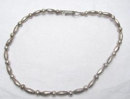 STERLING SILVER BEAD NECKLACE - $15.00