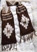 Peruvian scarf,shawl made of pure Alpaca wool  - $26.00