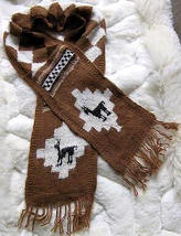 Peruvian scarf,shawl made of pure Alpacawool - $26.00