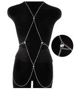 Body Chain Geometric Boho Silver Draping Chains... - $16.00
