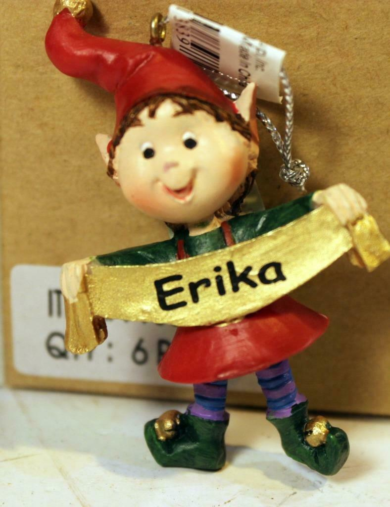 Primary image for CHRISTMAS ORNAMENTS - WHOLESALE- RUSS BERRIE-#13839 'ERIKA'- 6  PCS- NEW -W742