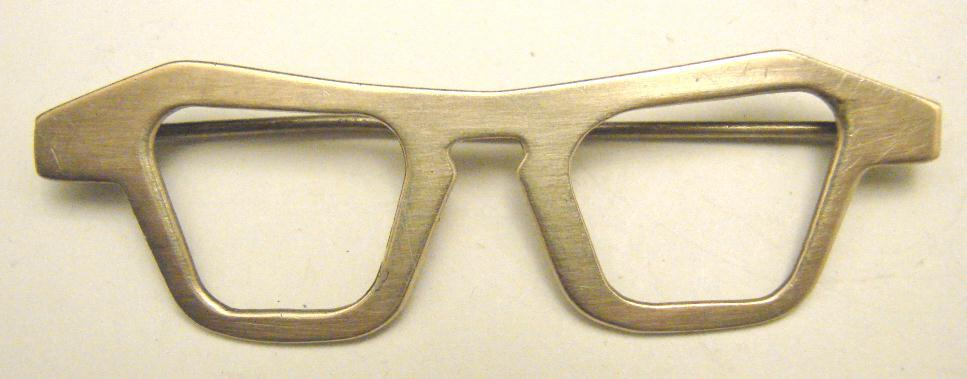 VINTAGE STERLING EYEGLASS PIN