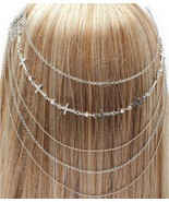 Hair Comb Head Chain Cross Crystals Chains Boho... - $16.00