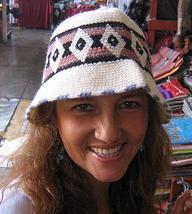 Summer cap, hat made with Alpaca wool, standart size  - $12.00