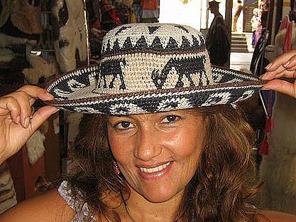 Light summer Hat from Peru, Alpaca fabric