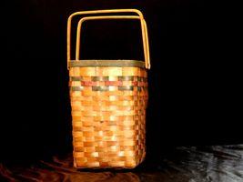 Double Handled Swing Basket Handmade AA19-1577 Vintage image 6