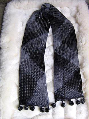 Blue neck scarf made of Rabbit wool