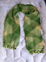 Green scarf ,shawl made of Rabbit wool   - $28.00