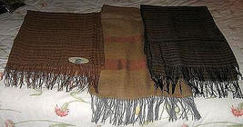 Set of 3 baby alpaca/silk scarves,very soft, cosy shawls - $228.00