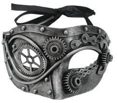 Steampunk Mask Steel Gear Prop Adult Retro Modern Scary Halloween SS73781 - $33.99