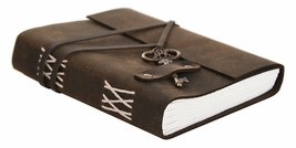 Handmade Classic Key Lock Design Leather Unique Notebook Journal for X-m... - $30.39 CAD