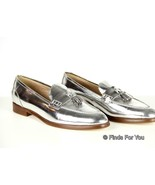 J Crew Biella Metallic Tassel Loafers Size 7 Style B0953 $298 New Shoes ... - $110.39