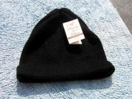 Black beanie hat,skull made of alpacawool  - $20.00
